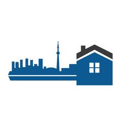 real estate agency logo vector image