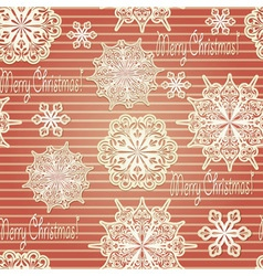 Seamless Background with paper cut snowflakes vector image