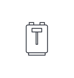 toaster thin line icon linear symbol vector image