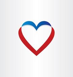 twisted heart symbol design vector image