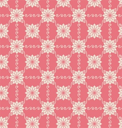Vintage flower and swirl pattern on pastel vector