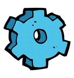 comic cartoon cog symbol vector image