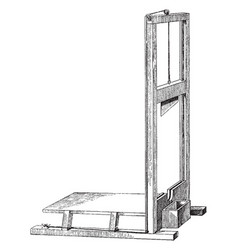 guillotine vintage vector image