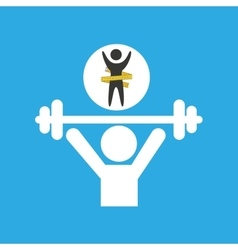 Lose weight concept weight lifting vector