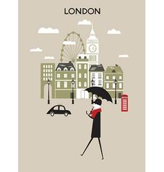 Man in London vector image