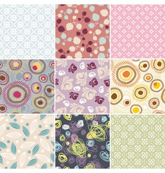 simple seamless patterns vector image vector image