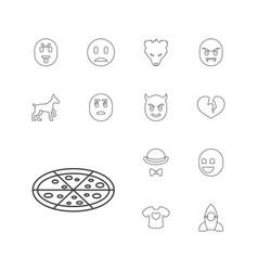 13 cartoon icons vector