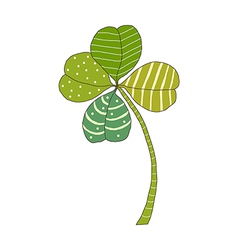 A clover is placed vector