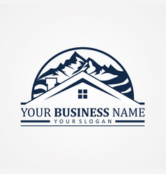 Abstract design symbol for real estate company vector