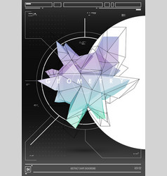 abstract poster with low poly shape creative vector image