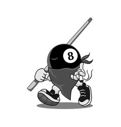 Action pool mascots greyscale vector