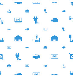 Adapter icons pattern seamless white background vector