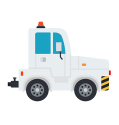 airport tractor flat material design isolated vector image