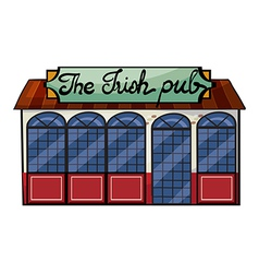 An Irish pub vector image
