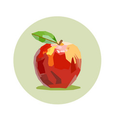 apple draw vector image