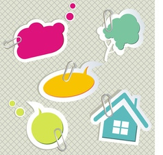 Baby speech bubbles vector image