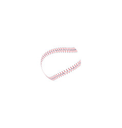 Baseball or softball realistic red lace around the vector