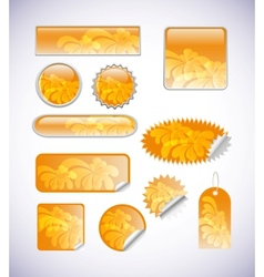 blank label set vector image