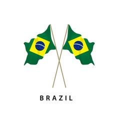 Brazil flag template design vector