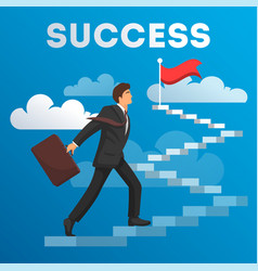 Business concept growth and the path to success vector