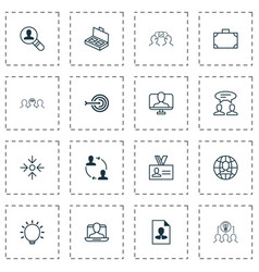 Business icons set with mentoring discussion vector