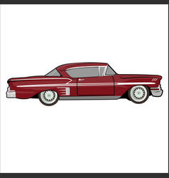 Car impala classic retro vintage vector