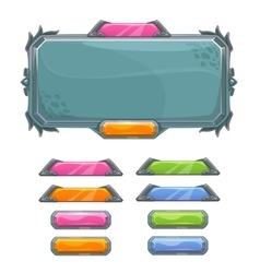 Cartoon game user interface elements vector image