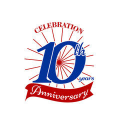 Celebrating 10 th years vector