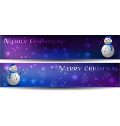 Christmas banners with snowman vector image
