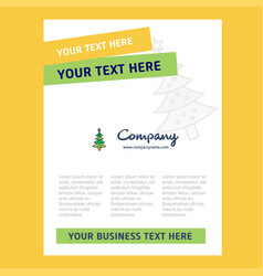 christmas calendar title page design for company vector image