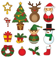 Christmas-set-vibrant vector