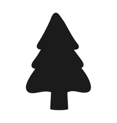 christmas tree silhouette icon vector image