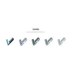 combs icon in different style two colored vector image
