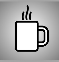 cup tea icon cup tea in eps 10 vector image
