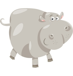 Cute hippopotamus cartoon vector