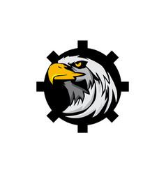 eagle head tech logo vector image