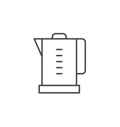 electric kettle thin line icon linear vector image
