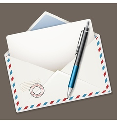 envelope end pen vector image