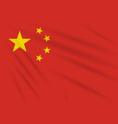 flag china swaying in wind realistic vector image
