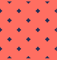 geometric seamless pattern with small crosses vector image