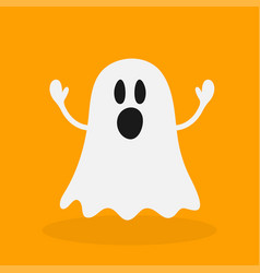 ghosts in a white sheet costume halloween vector image