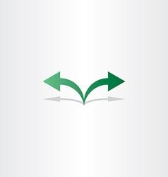 Green arrow left right icon logo vector