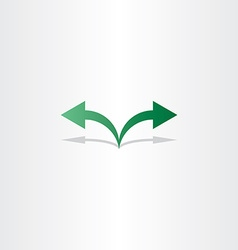 green arrow left right icon logo vector image