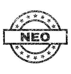 Grunge textured neo stamp seal vector