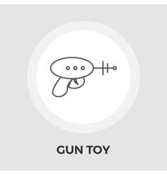 Gun Toy Flat Icon vector image