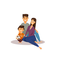 happy family father mother and son vector image