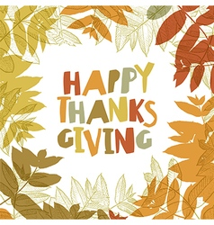Happy thanksgiving day design cover holiday vector