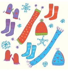 hats and socks vector image