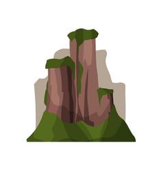 high rock mountains in summer season outdoor vector image