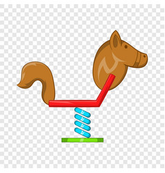 horse swing icon cartoon style vector image